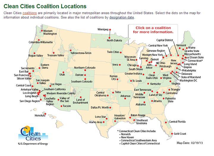 Clean Cities Coalition LocationsINTERACTIVE MAP Httpsunall - Us farm locations interactive map