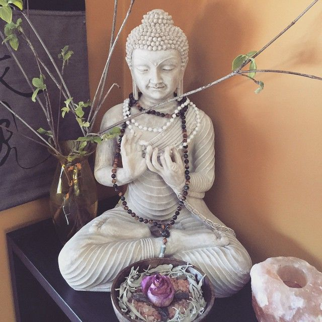 My lovely buddha in the new reiki room at Sage Goddess Headquarters <3