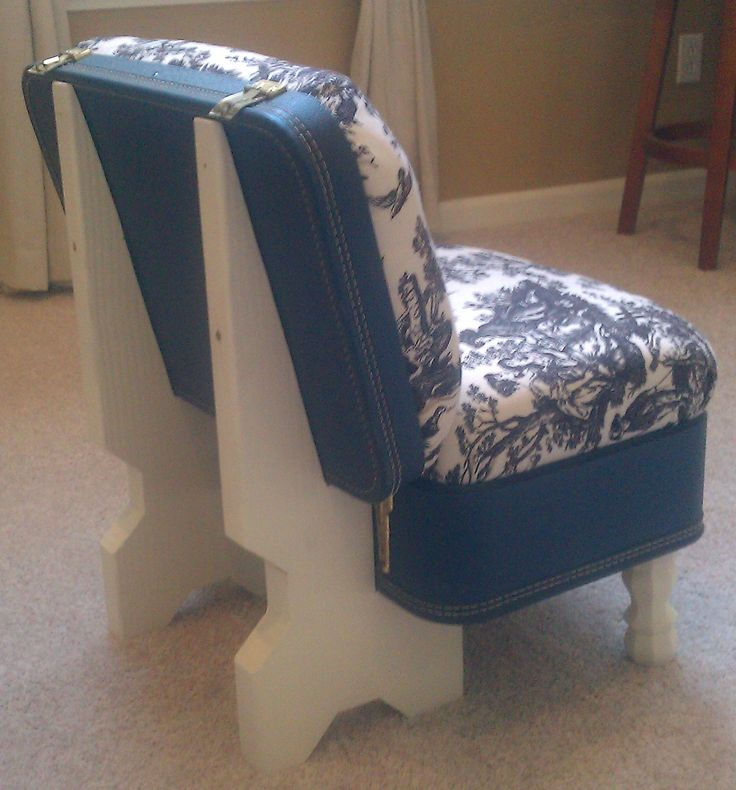suit case chair - back view #suitcasechair