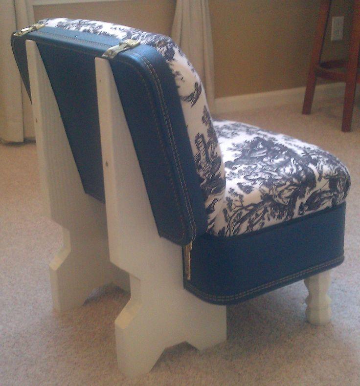 suit case chair - back view #suitcasechair
