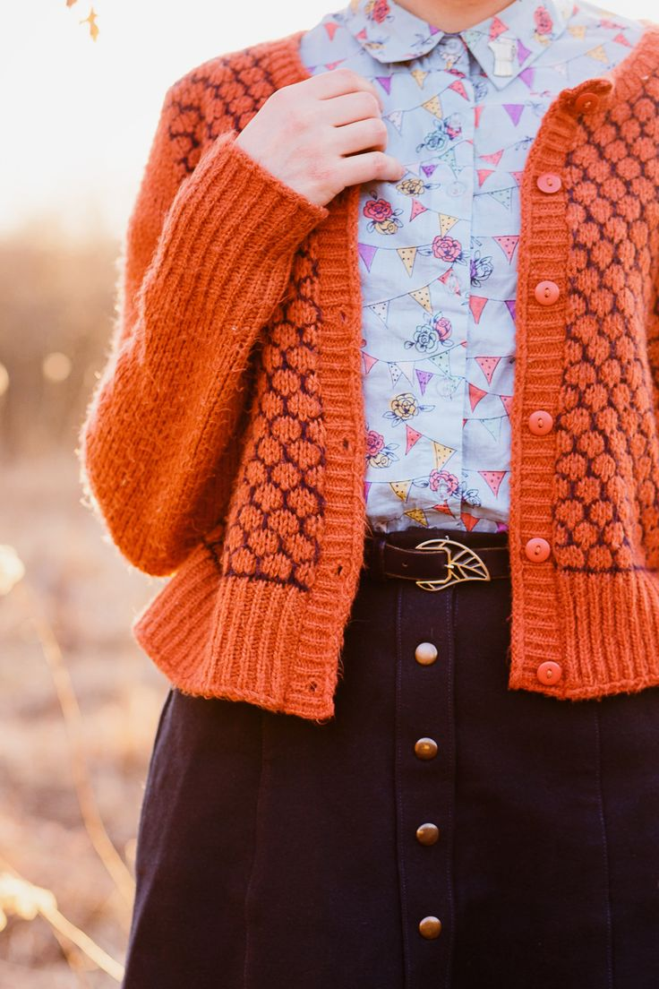 skirt I made from self-drafted pattern, thrifted cardigan and purse, blouse , loafers , vintage belt, pin  I'm exhaling a deep breath of rel...