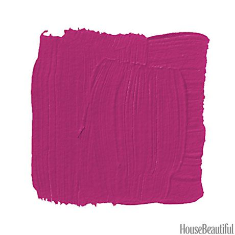 """Razzle Dazzle: """"""""Pick one wall. Apply two coats of Rust-Oleum Magnetic primer, paint it this yummy raspberry color, and then put up your children's artwork, school schedules, and birthday invites with magnets."""" —Philip Gorrivan"""