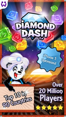 60 action packed seconds to match as many colorful diamonds as possible.     Enjoy this 5-star arcade experience as you unleash magical boosts and beat your friends' high scores in the Weekly Tournament.     With over 95 million playing on Facebook and mobile, this exciting game has hit the top 10 in 100 countries. So let's get started!     ★ 97,000+ 5 Star USA App Store reviews.  ★ Featured on iTunes in 120 countries.