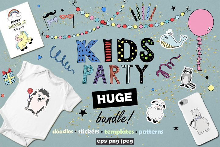 KIDS Party! Huge bundle from DesignBundles.net