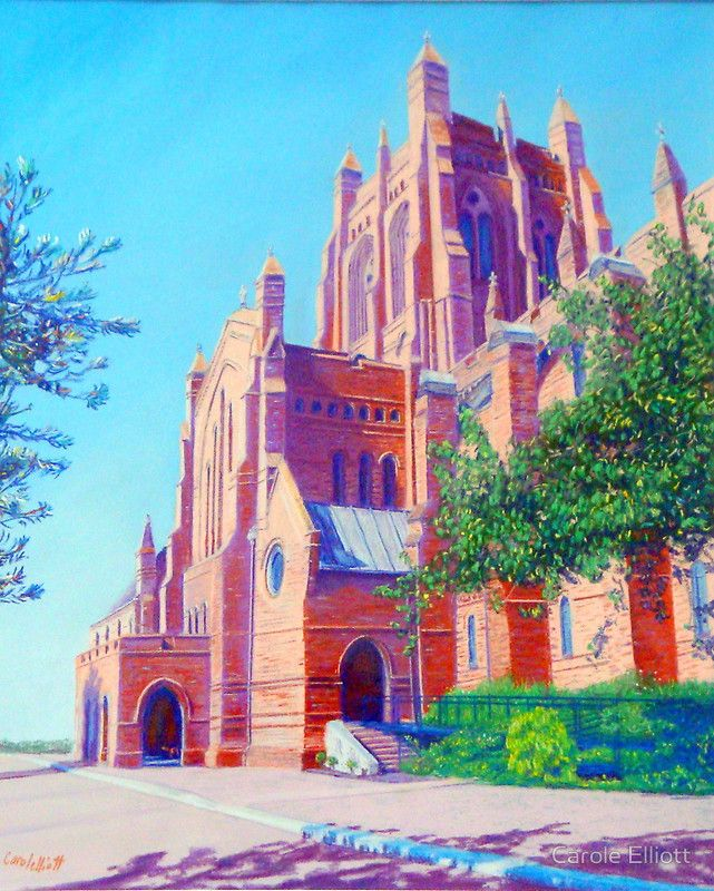 Christ Church Cathedral - Newcastle - Pastel on sanded paper by Carole Elliott #pastel #painting #newcastlecathedral #art #australianart #carolelliott7