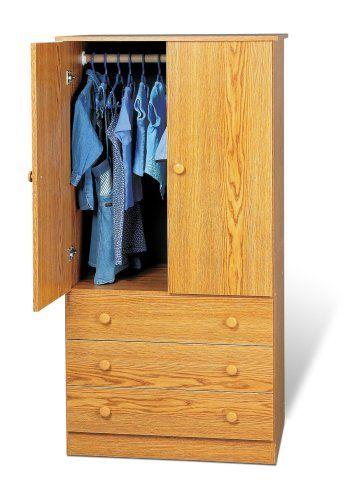 Prepac Oak Juvenile Wardrobe