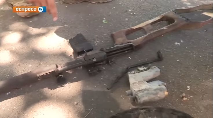 "VSS rifle captured by Ukrainian army during the ""battle"" of Ilovaisk (with russian optical sights)"