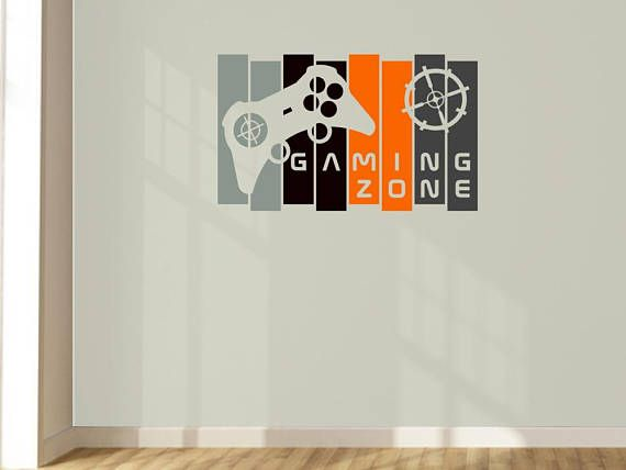 Customisable Funky Cool Gamer Wall Art Panel Controller Decal.