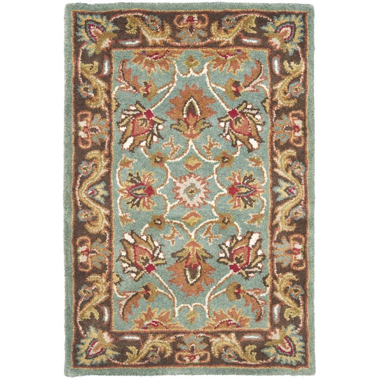 Hand Tufted Traditional Oriental Red Wool Rug With Non: Safavieh Handmade Heritage Timeless Traditional Blue