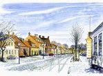 vinter på Præstø Torv. #praestoe