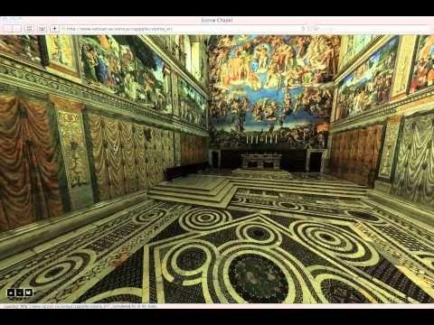 Virtual Tour of the Sistine Chapel --so cool!  http://www.vatican.va/various/cappelle/sistina_vr/index.html