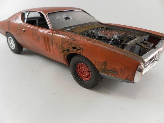 1971 dodge charger 1 24 scale model car in orange models. Black Bedroom Furniture Sets. Home Design Ideas