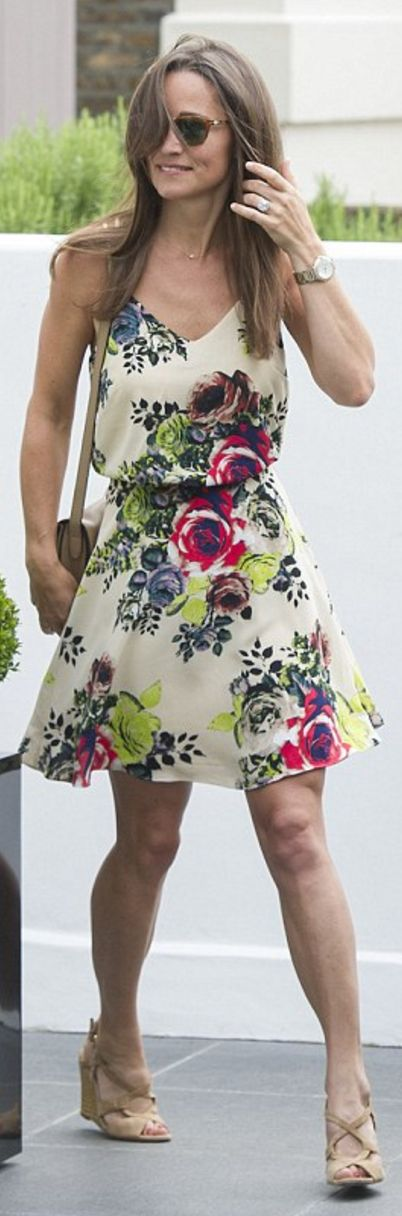 Who made  Pippa Middleton's white floral dress?