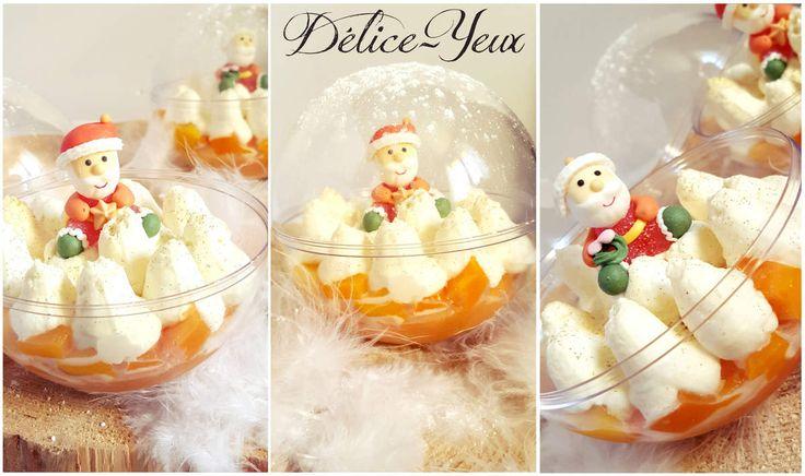 Pour le dessert du réveillon de Noël, j'avais envie d'un dessert simple, frais, léger mais aussi d'une jolie et originale présentation digne de Noël... J'ai donc choisi de réaliser des boules de Noël composée d'une génoise , de dés de mangue et d'une...