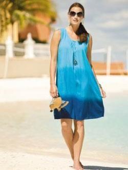 Пляжная мода для полных платье