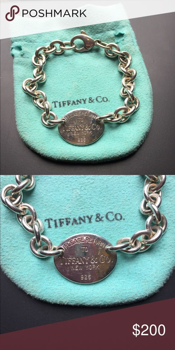 Return to Tiffany Bracelet AUTHENTIC! Tiffany and Co. bracelet. Retired design - in great condition.  It just needs a good polish.  It has been in my jewelry box unworn for over 2 years.  7.5 inch length (pouch not included) Tiffany & Co. Jewelry Bracelets
