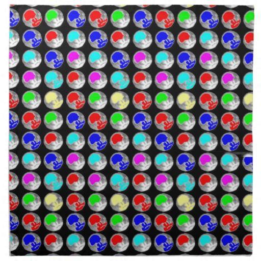 NVN5 NavinJOSHI Art Blue Red COLORFUL Sparkles Printed Napkin