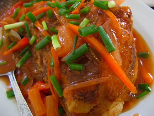 Lapu-Lapu (Grouper) Escabeche (Sweet and Sour Sauce) | Pinoy Recipes | Free Filipino Food Recipes