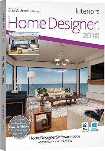 Chief Architect Home Designer Interiors 2018 DVD Key Card