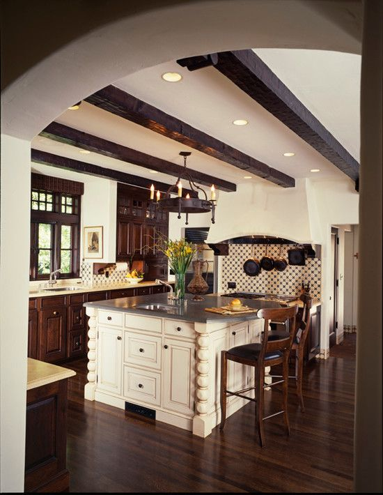 Fancy-Classic-Kitchen-with-Mediterranean-Decor-Coleridge-Avenue-Interior.jpg (550×710)