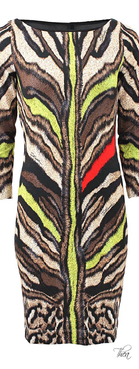 Just Cavalli ● Fitted Tiger Print Dress