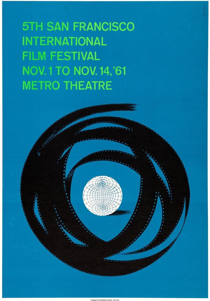 "5th San Francisco International Film Festival (1961). Poster (28.75"" X 41.25"") Saul Bass Artwork."