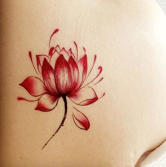 1pc Lotus  temporary tattoo fake tattoo body art by MaomaoCreation