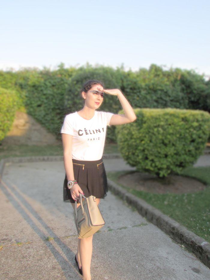 Style & Paper: Black & White Outfit ft Celine nano bag
