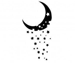 Lune et ses étoiles