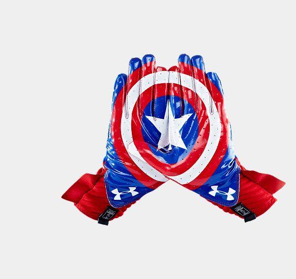 Men's Under Armour® Alter Ego Captain America Highlight Football Gloves