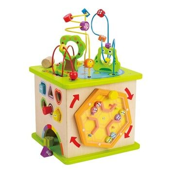 Hape Country Critters Play Cube : Wooden Bead Maze | Dada Baby Boutique