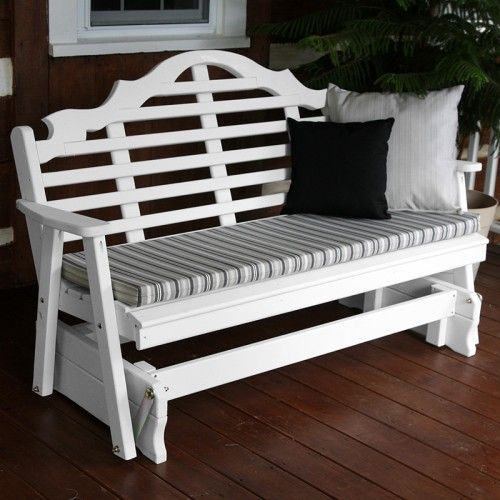 marlboro designer white wooden gliders 571 572 - Porch Gliders