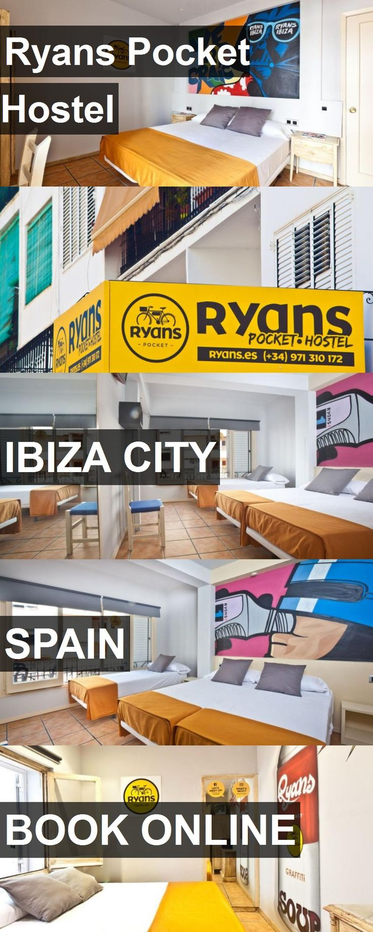Hotel Ryans Pocket Hostel in Ibiza City, Spain. For more information, photos, reviews and best prices please follow the link. #Spain #IbizaCity #RyansPocketHostel #hotel #travel #vacation