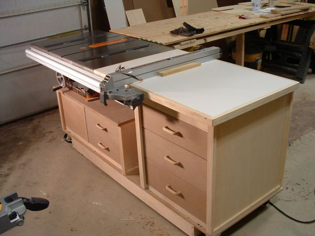 130 best images about the workshop on pinterest for Table saw cabinet plans free