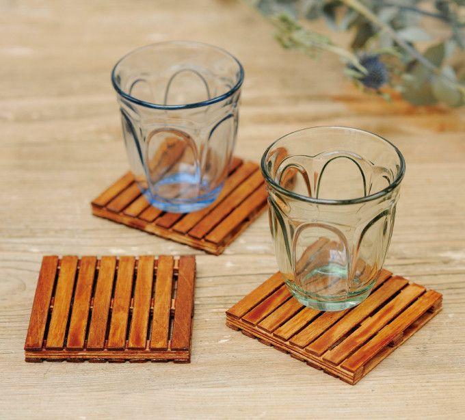 アイスの棒で手作り!おしゃれな木製パレット風コースターの作り方(リサイクル雑貨) | ぬくもり