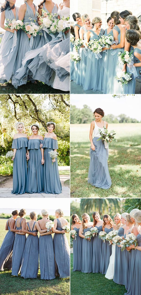 Top 10 Dusty Blue Bridesmaid Dresses Ideas On Pinterest In 2019