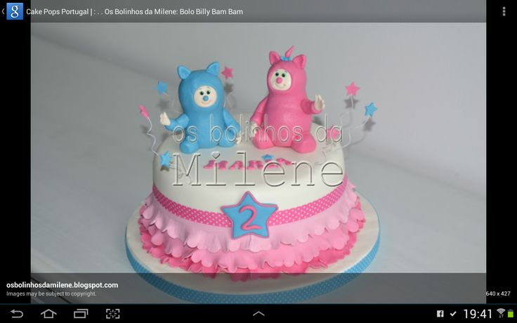 Billy and Bambam cake!!! I want this for my babygirl!!!
