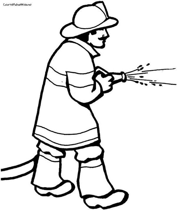 Firefighter Coloring Pages: 1000+ Images About Fire Safety On Pinterest