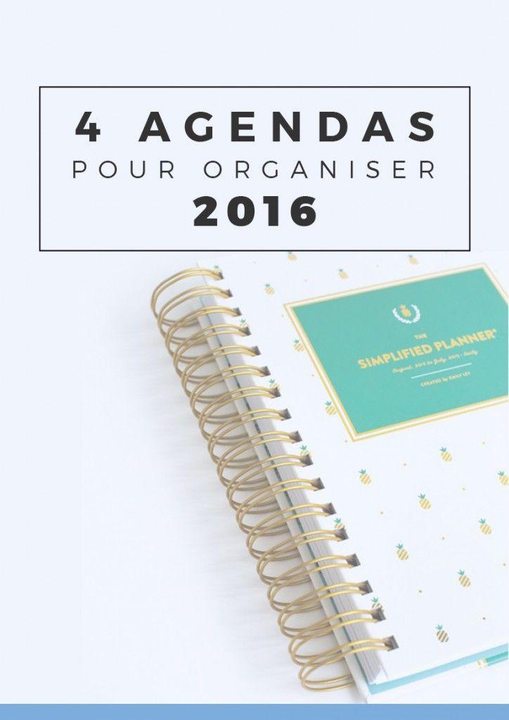 4 superbes agendas pour organiser son année 2016 au top   Si vous cherchez votre nouvel agenda ou planner 2016, que vous aimez vous organiser avec de jolies fournitures, ces agendas à spirale sauront vous combler ! Epinglez pour plus tard ou cliquez pour lire tout de suite !