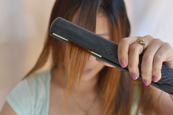 How to Straighten Hair with Heat Protection Spray -- via wikiHow.com