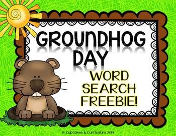 Groundhog Day {Word Search} Forever Freebie