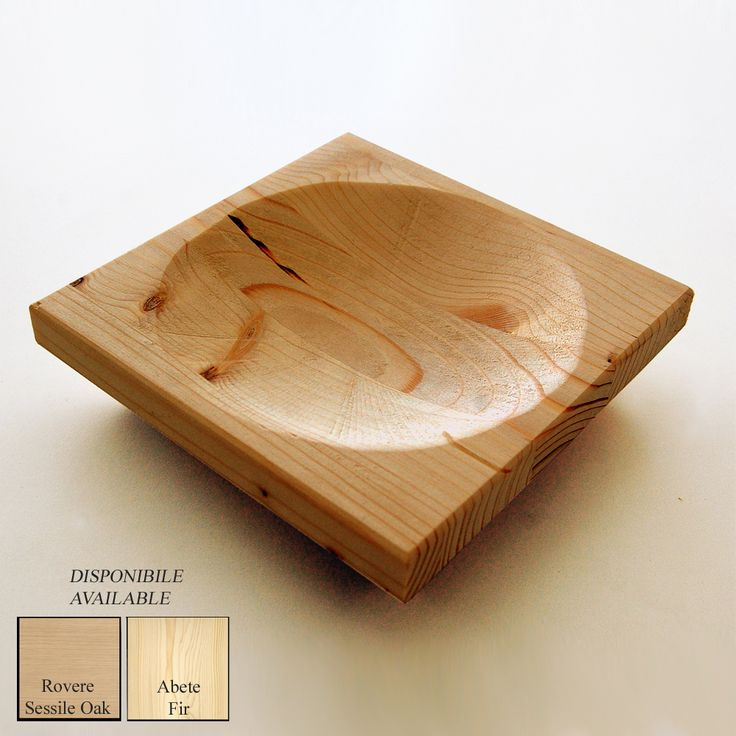 """""""Forobject"""" is a oak or fir wood tray. You can use it as :empties-pocket , ashtray , tray for candy,party favor etc...  / Material: oak or fir / Dimension (length x width x high): 15 x 15 x  5 cm / Weight: 0,3 kg / Time of production:15 giorni/days  / On request it 's possible to customize the product by changing the size, shape , color and / or adding written and engraved decorations . Follow us on facebook"""