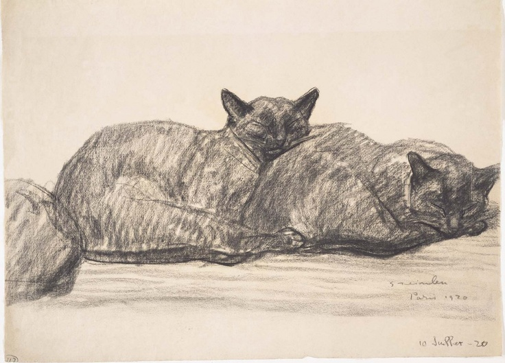 ¤ Two Cats Sleeping | by Theophile Alexandre Steinlen (Museum of Fine Arts, Boston)