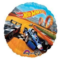 Hot Wheels -Non-Pkg 17 Inch foil balloon (5ct) - Size: 17 Inches. You get five balloons for this price.