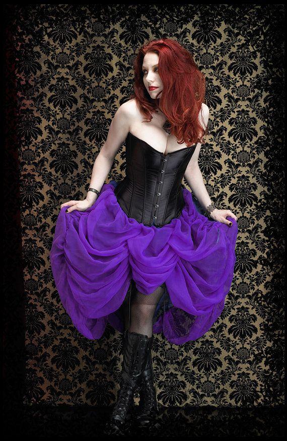 Natalia Fairy Bustle Skirt - Custom Elegant Gothic Clothing and Dark Romantic Couture