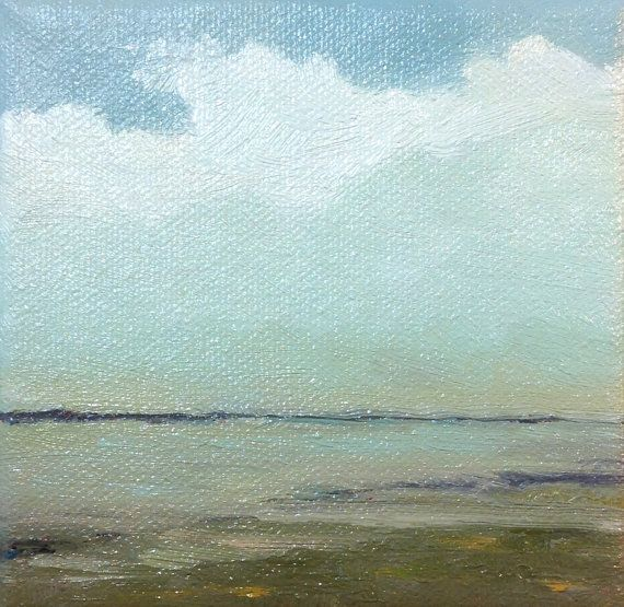 FAR SHORE oil painting landscape painting original by PaintingWell