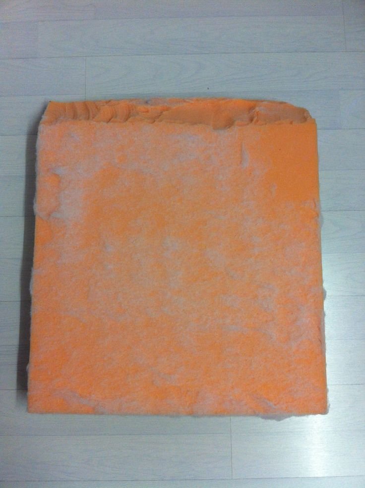Large, Fleeced, Waterfall, High Density, Top Grade Foam Seat Pad 25  x 22  x 4