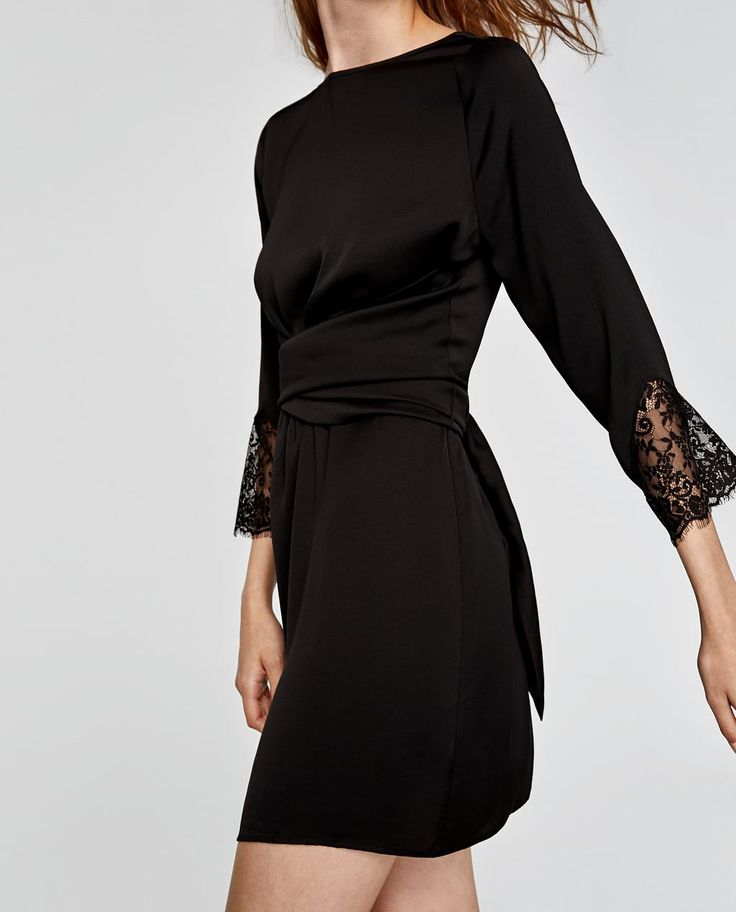 COMBINED CROSSOVER DRESS-Mini-DRESSES-WOMAN | ZARA United States