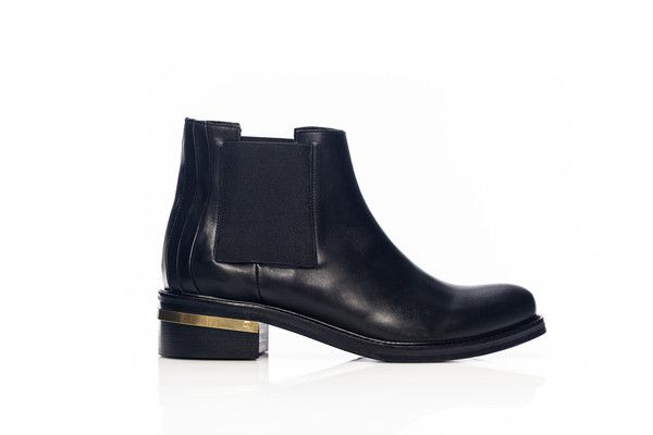 Chelsea Leather Boots - BLACK