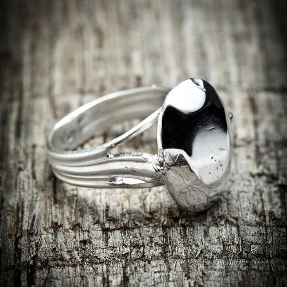Sterling Facetcut Oval Stone Ring Silver Dipped by BrazenDesign, $75.00